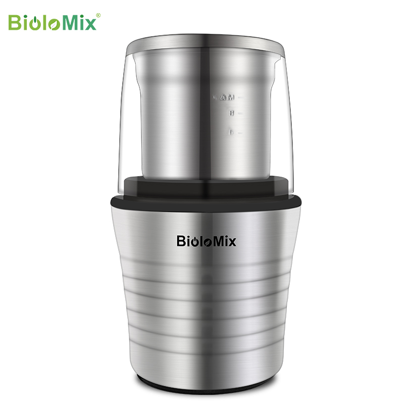 2 IN 1 Electric Biolomix Coffee Grinder Mill with Stainless Steel Blades for Spices, Herbs, Nuts, Grains, Coffee Bean Grind|Electric Coffee Grinders|   - AliExpress