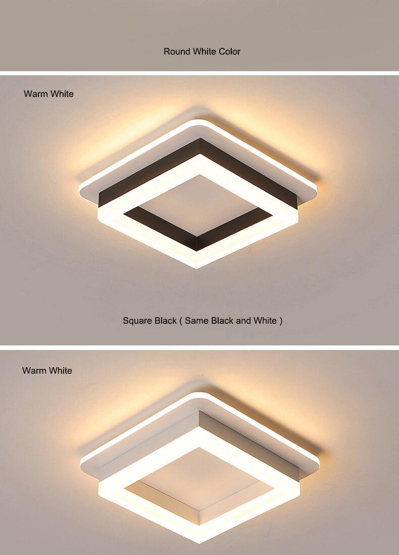 Luzes de teto modernas para corredor varanda