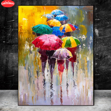 5D DIY Diamond Painting Abstract, girl holding umbrella cross stitch full square/round diamond mosaic embroidery