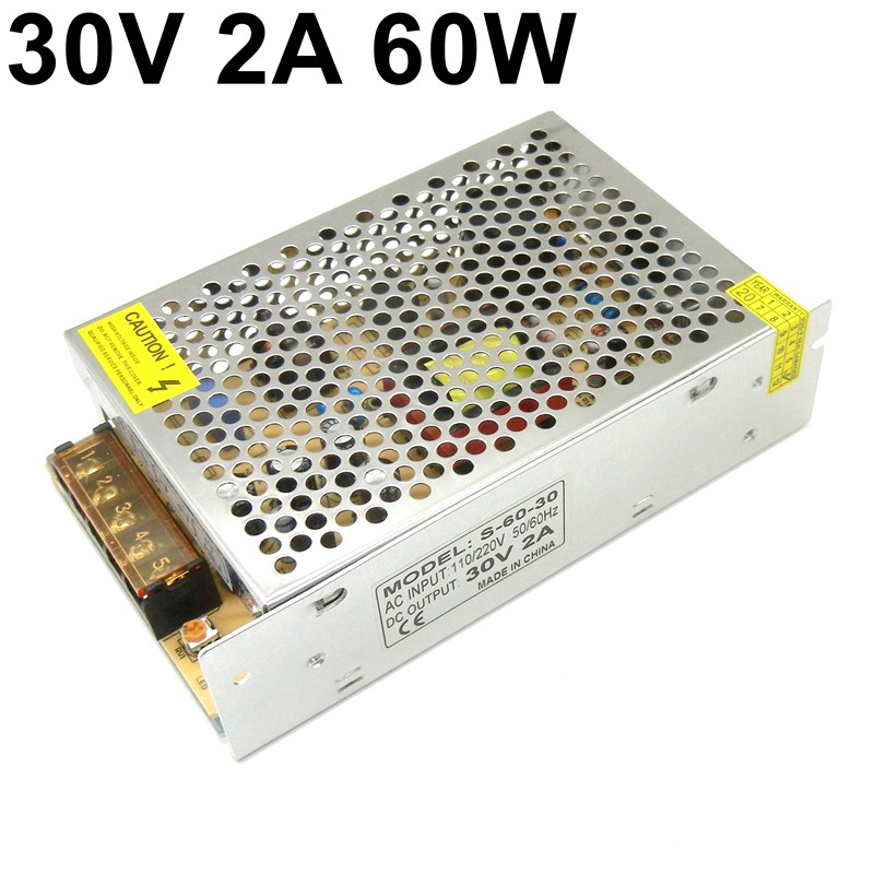<font><b>30V</b></font> 2A 60W switching <font><b>power</b></font> <font><b>supply</b></font> 110V 220V AC TO DC 30 volt SMPS For LED Strip CNC 3D Print transformer image