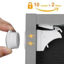 10 замки 2 клавиши Магнитный шкаф безопасности на шкафы от ребенка