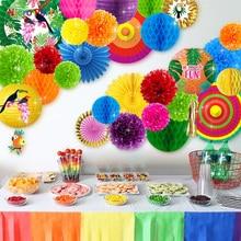 Nicro 30 pcs/set Tropical Parrot Theme Party Decoration Kit Aloha Luau Hawaiian Beach Decor Baby Shower Birthday  #Set135
