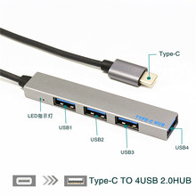 USB C HUB 4 Port Type C to USB 3.0 Splitter Converter OTG Adapter Cable for Macbook Pro iMac PC Laptop Notebook Accessories(China)