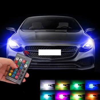 T10 W5W Led Error Free Eyebrow Eyelid Light RGB Bulb For Chevrolet Cruze OPEL MOKKA ASTRA J Hyundai Solaris Accent