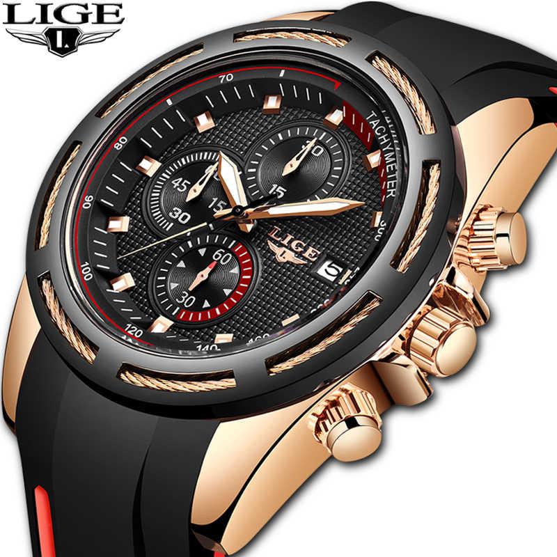 2020 nova marca de luxo lige masculino militar esportes relógios quartzo data relógio homem casual couro relógio de pulso relogio masculino