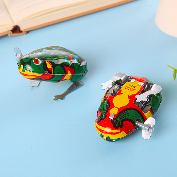Algam Frog 80 After Spring Memories Children Classic Nostalgic Winding Childhood Leap Frog Childhood Gift Toy