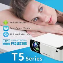 T5 мини портативный lcd видео проектор 2600 люмен 4K 3D 1080P HD домашний мультимедийный кинотеатр мини-проектор IR USB AV VGA HDMI порт