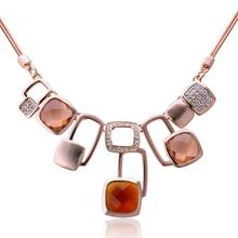 Мода подарок аксессуары Рубика ожерелье куб покрытие из розового золота Богемия пункт подарок на день Святого Валентина