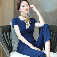 New 2020 Summer Women Formal Pant Suits Short Sleeve Blazer