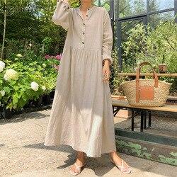 2021 outono zanzea feminino casual sólido longo camisa vestido bolsos longo maxi vestidos escritório senhora trabalho algodão vestido de festa robe femme