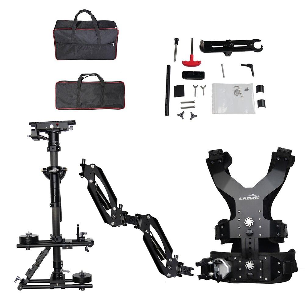 LAING M30PX 15kg peso oso fibra de carbono videocámara Steadicam estabilizador Steadycam fotografía chaleco brazo de soporte Dual