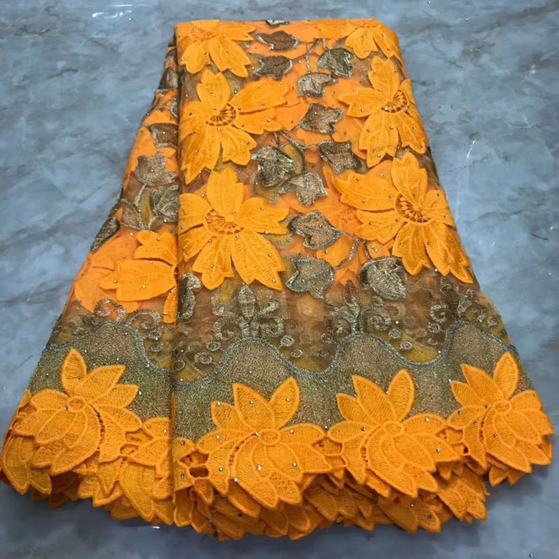 Nigerian Lace Fabric 2019 High Quality Lace Materials Tissue African Lace Fabrics 5 Yards Beautiful French Embroideried Cloth