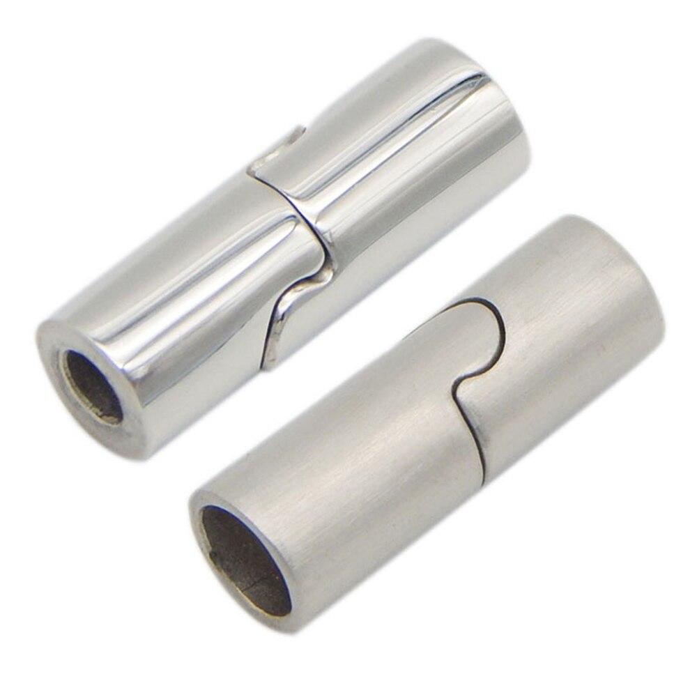 20 шт./лот отверстие для гравировки логотипа: 3/4/5/6/7/8 мм магнитные застежки из нержавеющей стали соединитель магнитной пряжки для браслетов DIY...