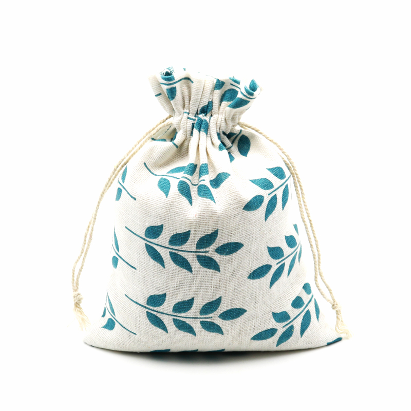 10pcs/lot Floral Printed Bead Storage Containers , Jewelry Flower Packing <font><b>Bag</b></font> , Cotton <font><b>Packaging</b></font> <font><b>Bags</b></font> ,Drawstring Pouches Holder image