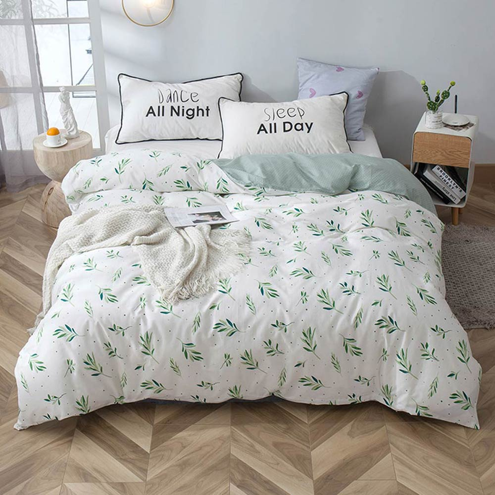 Svetanya 1 Piece Duvet Cover With Zipper 100% Cotton Quilt Or Comforter Or Blanket Case Pastoral Printing