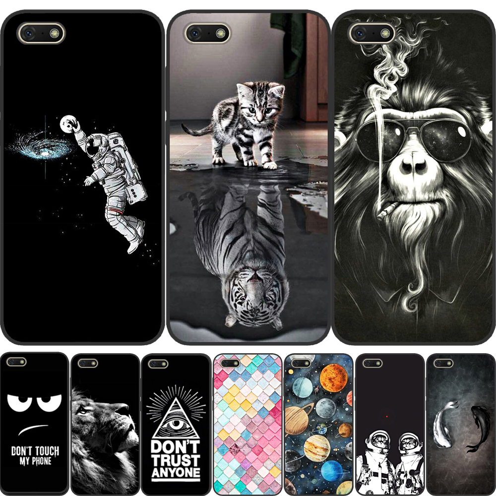 Soft TPU Silicone case For <font><b>Huawei</b></font> <font><b>Honor</b></font> <font><b>7A</b></font> Case 5.45