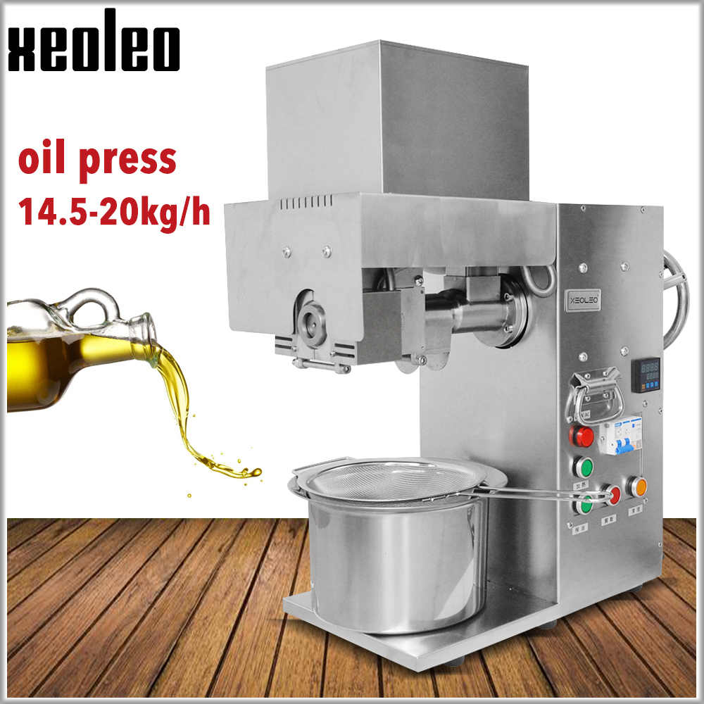 XEOLEO Oil press machine Oil presser Commercial Stainless steel Peanut oil presser for sesame/Melon seeds/Rapeseed/flax/walnut
