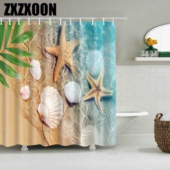Tournesol arbres feuille fleur coquille rideau de douche salle de bain rideau Frabic imperméable Polyester rideau de douche ensemble avec crochets