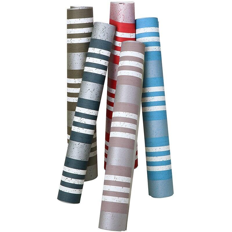Bonne qualité moderne minimaliste style nordique papier peint fond mur chambre salon méditerranéen bleu rayures verticales
