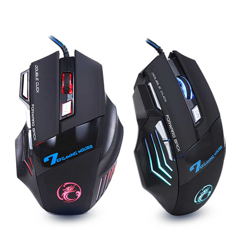 Ergonomische Wired Gaming Muis 7 Button Led 5500 Dpi Usb Computer Muis Gamer Muizen X7 Stille Mause Met Backlight Voor pc Laptop
