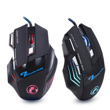Ergonomische Wired Gaming Muis 7 Button Led 5500 Dpi Usb Computer Muis Gamer Muizen X7 Stille Mause Met Backlight Voor pc Laptop(China)