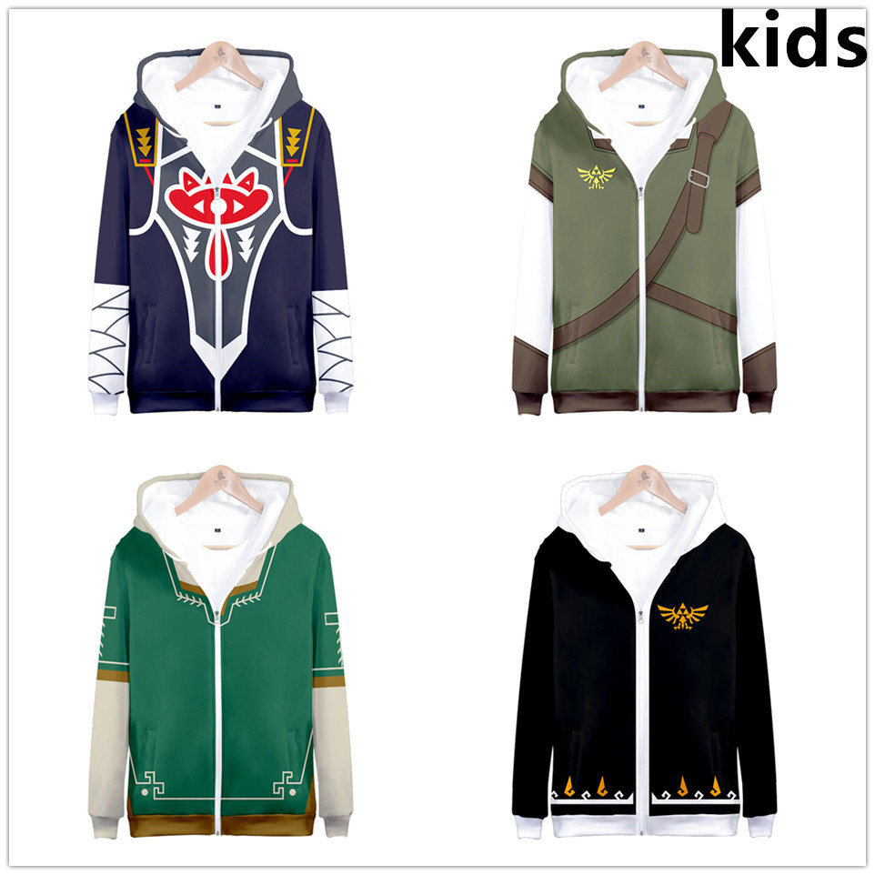 3 To 13 Years Kids Hoodies The Legend Of Zelda 3d Printed Hoodie Sweatshirt Boys Girls Outerwear Jacket Coat Children Clothes