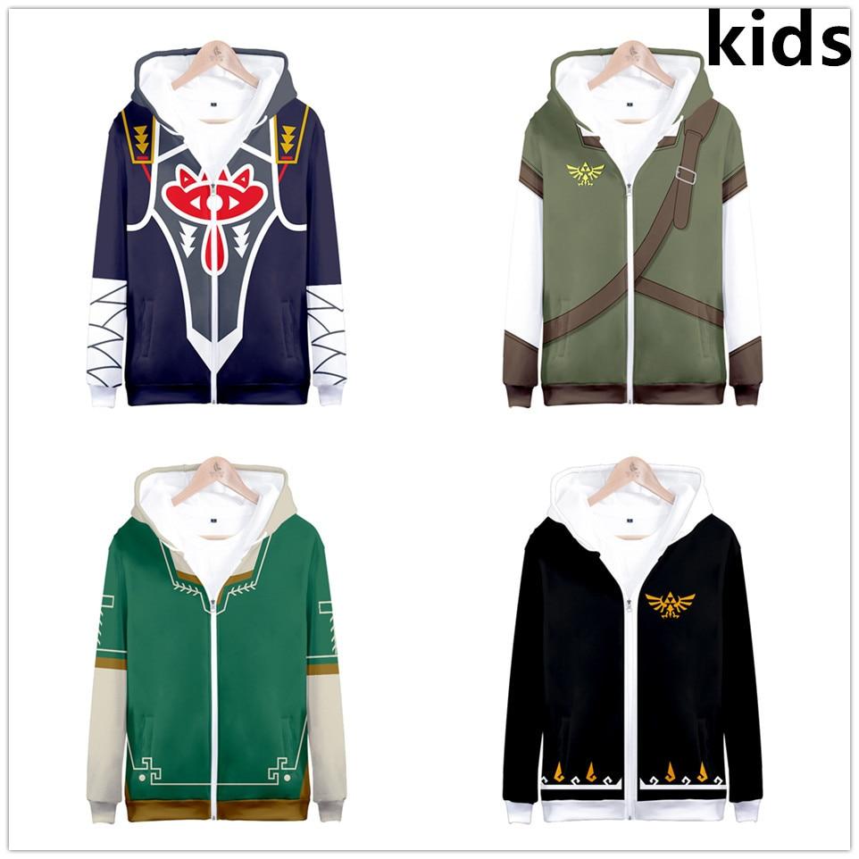 3 To 13 Years Kids Hoodies The Legend Of Zelda 3d Printed Hoodie Sweatshirt Boys Girls Outerwear Jacket Coat Children Clothes