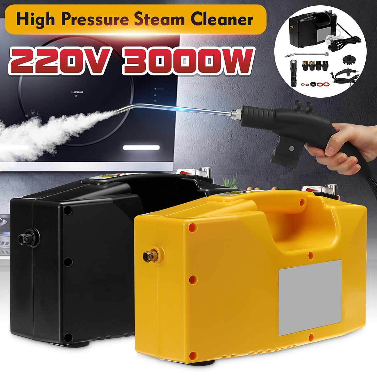 220V 3000W Professional Steam Cleaner Handheld Steam Generator High Pressure Cleaning Machine For Household Kitchen