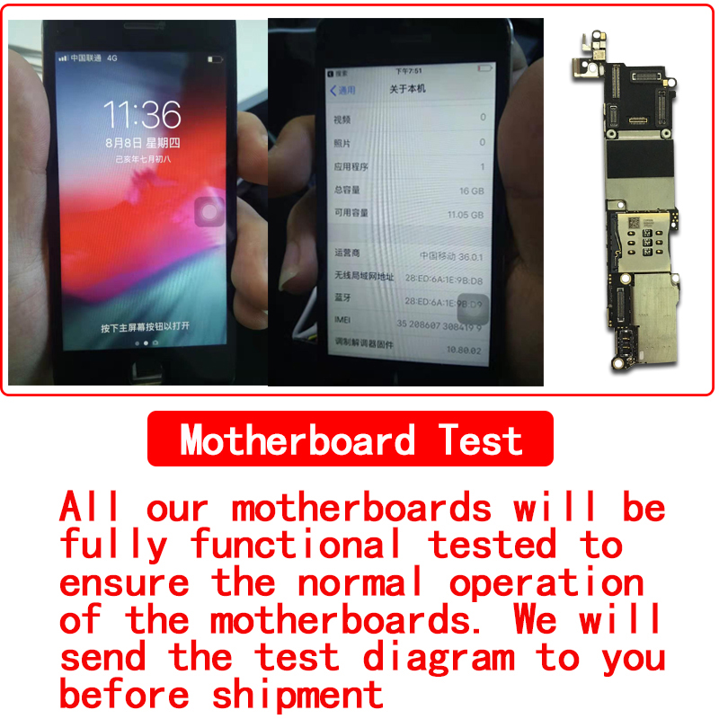 Factory unlocked for iphone SE Motherboard with Touch ID Without Touch ID 100 Original for iphone 5SE Mainboard with Full Chips in Mobile Phone Antenna from Cellphones Telecommunications