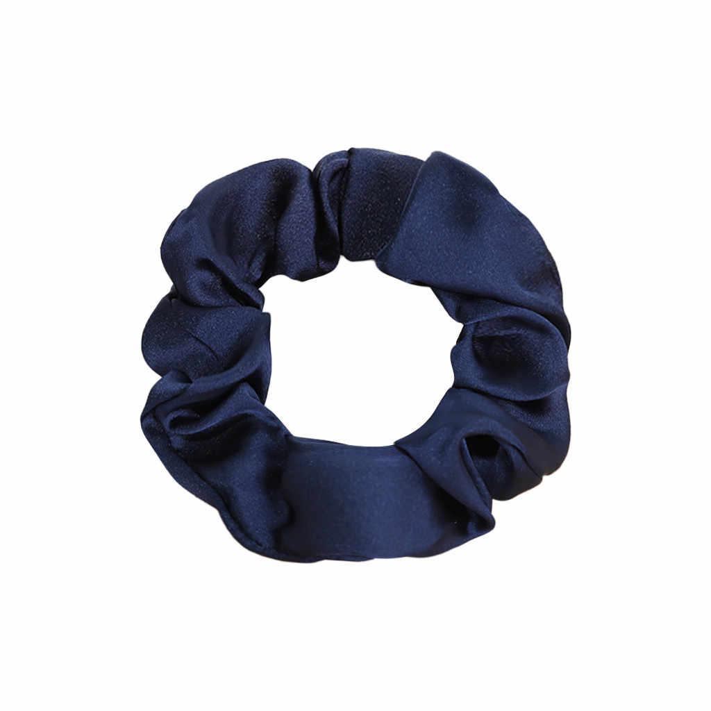 1 adet ipek saç döngü elastik saç bantları kadınlar veya kızlar için saç aksesuarları saç aksesuarları kadınlar için elastik saç bantları kızlar