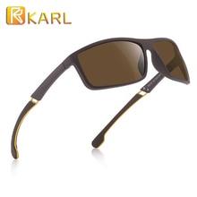 TR90 Polarized Sunglasses Men Driver Shades Male Sports Fashion Square Ultralight Coating Glasses Unisex