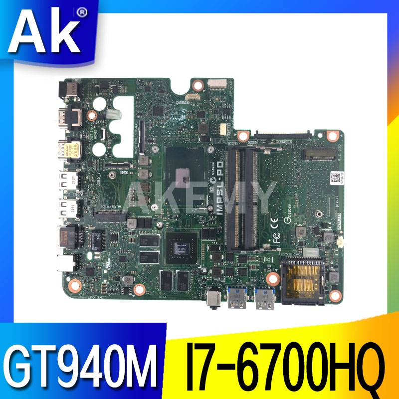 Original For DELL Inspiron 24 7459 motherboard WITH <font><b>I7</b></font>-<font><b>6700HQ</b></font> CPU 0503P4 503P4 CN-0503P4 Test OK image