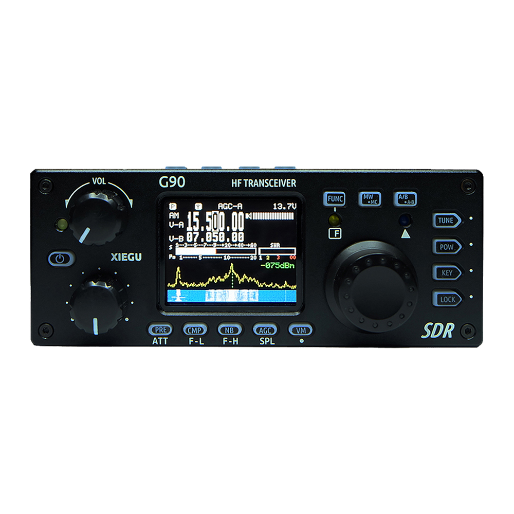 Xiegu G90 HF Amateur Radio HF Transceiver 20W SSB/CW/AM/FM 0.5-30MHz SDR Structure With Built-in Auto Antenna Tuner