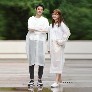 Image 1 - Xiaomi Raincoat and Waterproof Hooded EVA Rain Jacket Poncho Outside Hiking Rainwear Uniform code Women Men Waterproof Rainwear
