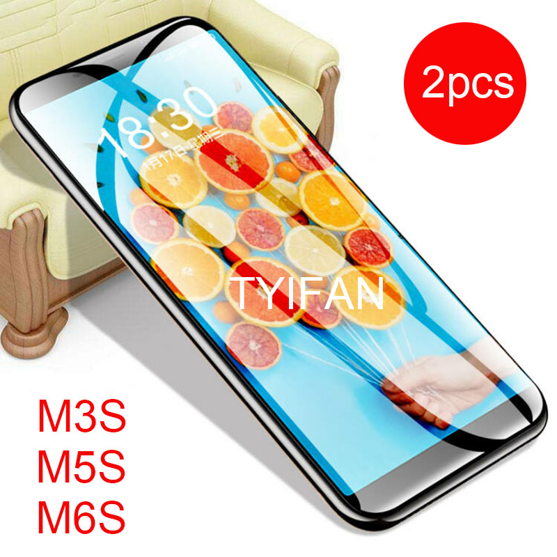 2pcs Tempered Glass for Meizu M6s M5s M3s Glass Screen Protector on Maisie S6 S5 S3 M 6s 5s 3s M6 M5 M3 S Protective Film Safety image