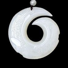 Real Hetian Jade Good Luck Necklace Pendant Hand Carved White Jade Gemstone Lucky Amulet Best Gift for Men and Women buddha jade pendant unisex 2018 new top quality fo jade for men women pendants jewelry fine necklaces good luck gift
