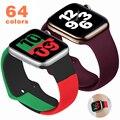 Мягкая силиконовая лента для наручных часов Apple Watch серии 6 SE 5 4 3 2 1 44 мм 40 мм резиновый ремешок для наручных часов iWatch, версия 4/5, 42 мм, 38 мм, верс...