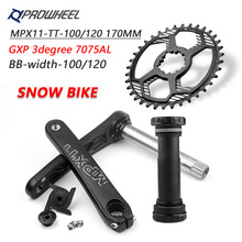 Crankset 170mm Bottom-Bracket PROWHEEL Snow-Bike 38t Chainring GXP 28T Bicycle 34T 36T