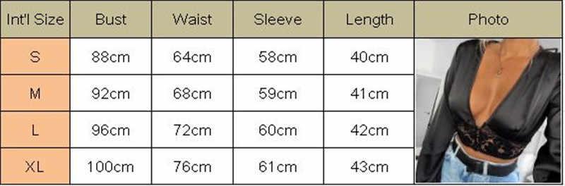 عميق الخامس الرقبة الجوف خارج قميص البلوزات المحاصيل القمم كلوبوير المرأة الخريف الخريف الدانتيل الأزهار طويلة الأكمام مثير Bodycon قميص بلوزة 2019