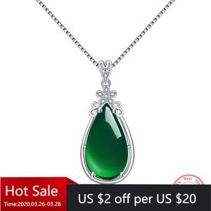 100% 925 Sterling Silver Garnet Emerald Pendant Necklace for Women Men Anillos De Natural Emerald Bizuteria Pierscionki Pendants