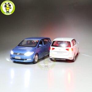 Image 3 - 1/32 Jackiekim TOURAN MPV VAN Diecast Model CAR Toys kids Sound Light Pull Back Gifts
