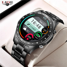 LIGE 2021 New Smart watch Men Full touch screen Sports Fitness watch Bluetooth Call IP67 waterproof Bluetooth For Android iOS