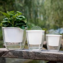 Самополивающийся цветочный горшок настенный резиновый пластиковый круглый горшок прочный для сада, балкона, дома, сада, фонтана