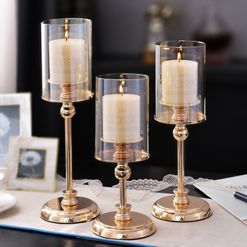 Glass Luxury Candle Holders Wedding Decorations Romantic Living Room Candle Holder Table Centerpieces Gold Home Decor CC50ZT 1