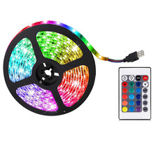 Светодиодные ленты светильник s RGB светодиодный светильник Светодиодные полосы Цвет изменение светильник с 24 кнопок пульта дистанционного ...