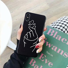 GYKZ You Me Lover Couple Case For iPhone XS MAX X XR 7 8 6 6s Plus Love Heart Black Silicone Soft Phone Coque Best Friend Fundas