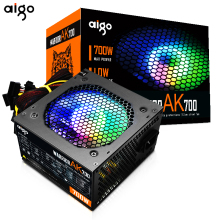 Aigo Ak700 Max 700W Pc Voeding Unit Gaming Stille 120Mm Rgb Fan 24pin 12V Atx Btc psu Desktop Computer Voeding Voor Pc