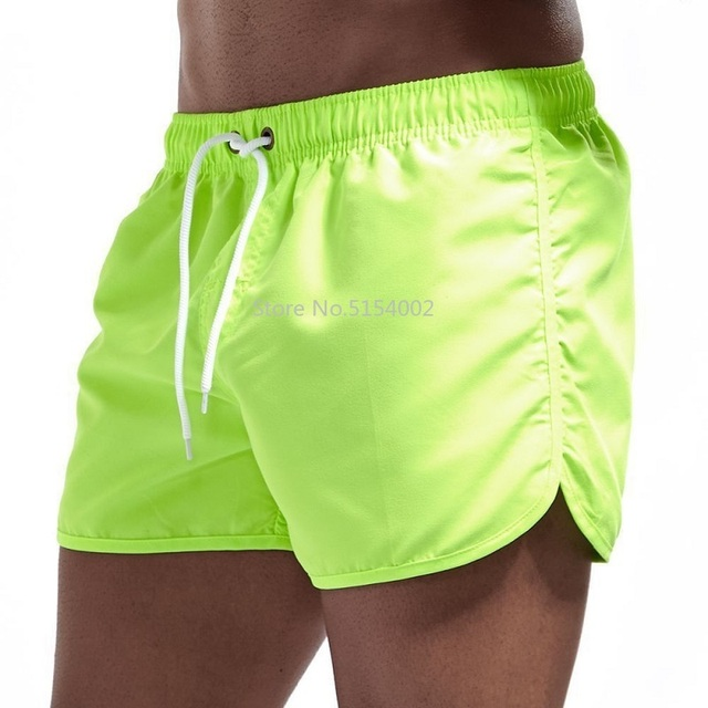 Breathable Quick Dry Men's Casual Beach Shorts Summer Swimming Trunks Adjustable Strap Boxer Briefs Soccer Tennis Training Short 6