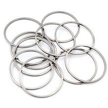 20 шт. 20/25/30/35/40 мм серьги-кольца из нержавеющей стали 316 кольца большой круг уха проволочные обручи подвеска для ювелирных изделий DIY