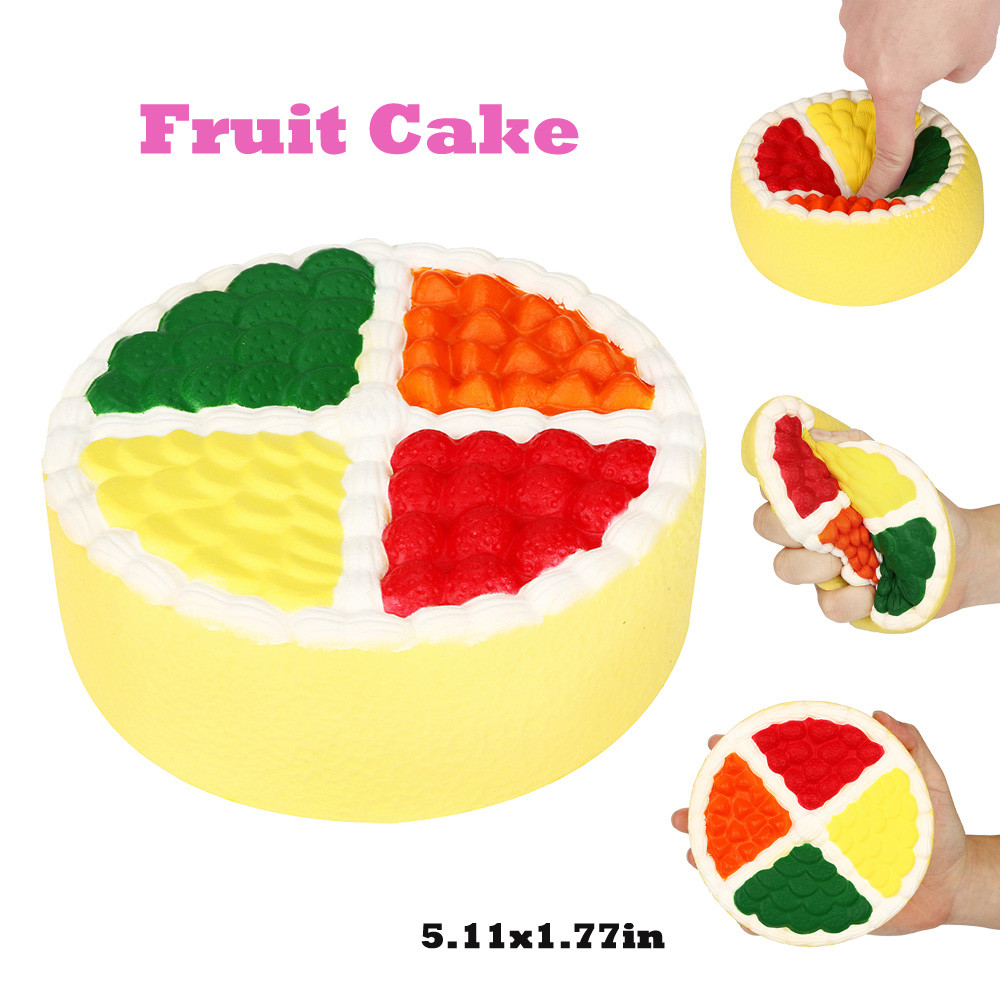 Fruit Cake Squeeze Pressure Toy Stress Reliever Fruit Cake Scented Super Slow Rising Kids Toy Cute Squeeze Toy L113